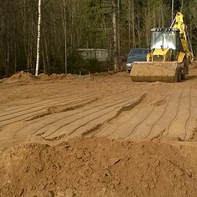 Строительство дорог и насыпей фото